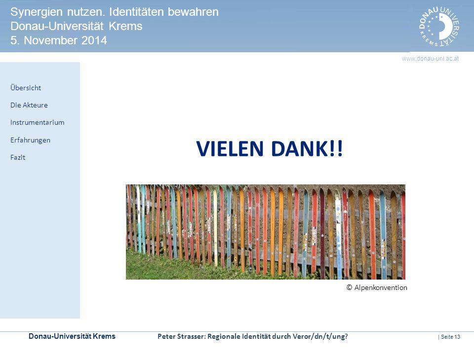 Synergien nutzen. Identitäten bewahren Donau-Universität Krems 5