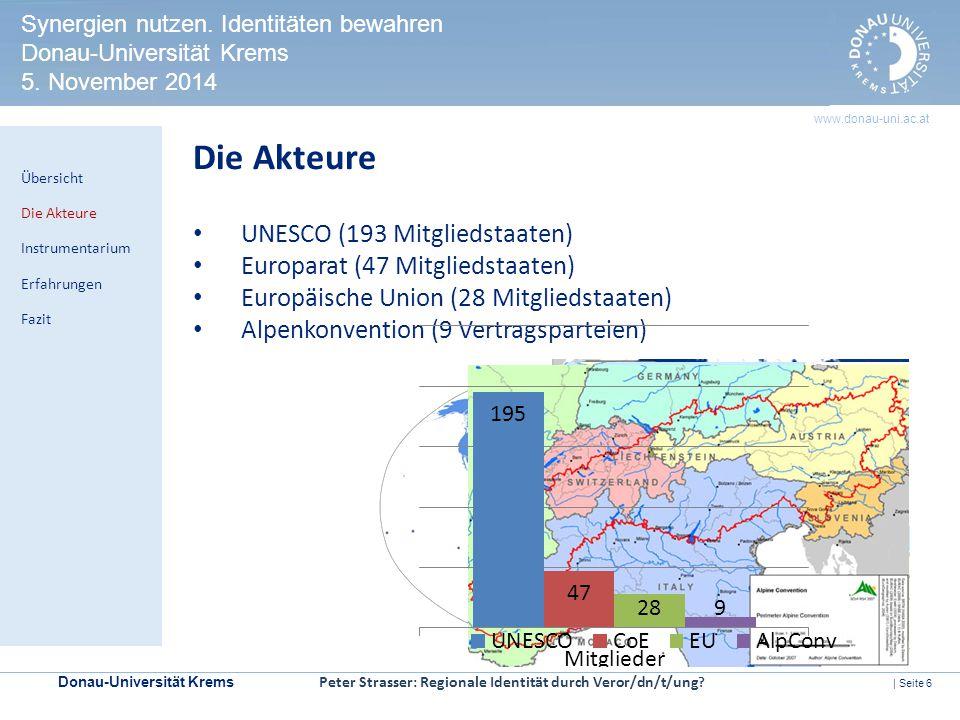 Die Akteure UNESCO (193 Mitgliedstaaten)