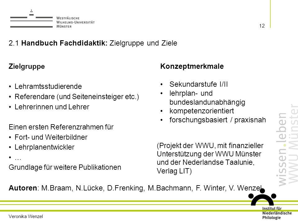 2.1 Handbuch Fachdidaktik: Zielgruppe und Ziele