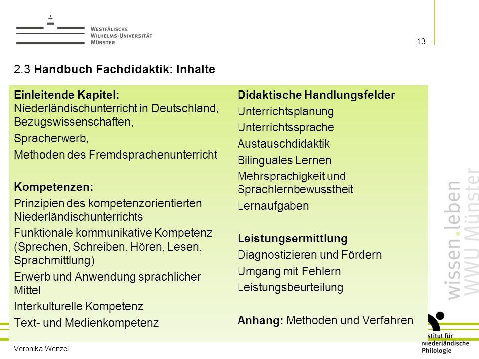 2.3 Handbuch Fachdidaktik: Inhalte