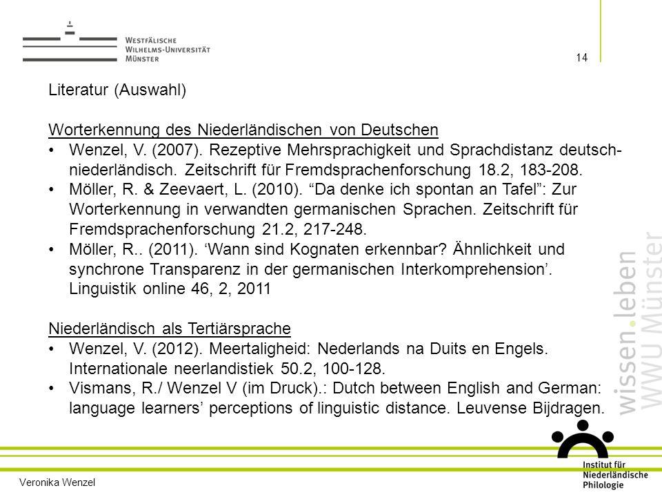 Worterkennung des Niederländischen von Deutschen