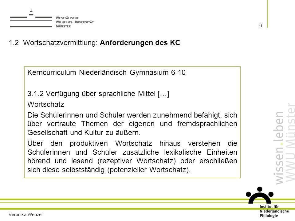 1.2 Wortschatzvermittlung: Anforderungen des KC