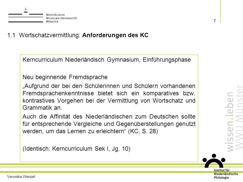 1.1 Wortschatzvermittlung: Anforderungen des KC