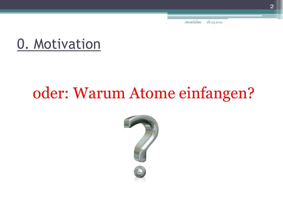 oder: Warum Atome einfangen