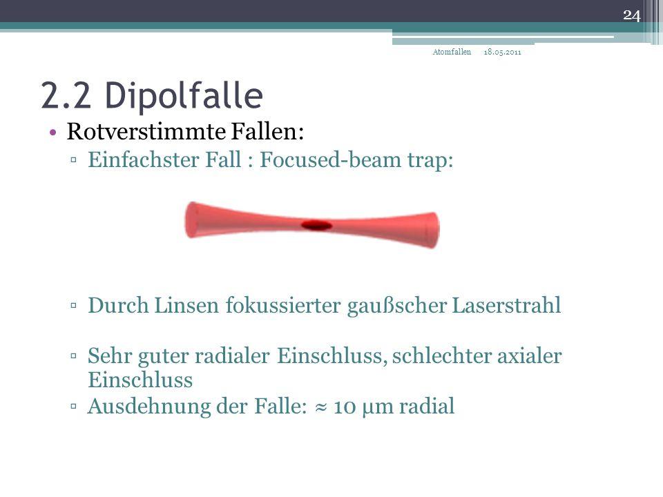 2.2 Dipolfalle Rotverstimmte Fallen: