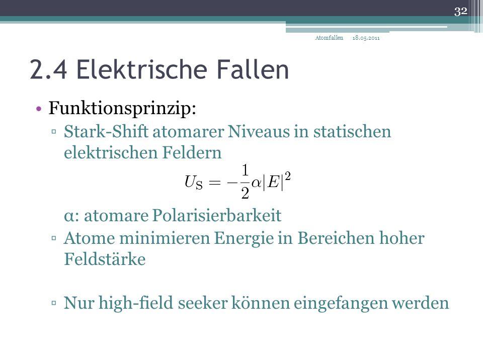 2.4 Elektrische Fallen Funktionsprinzip: