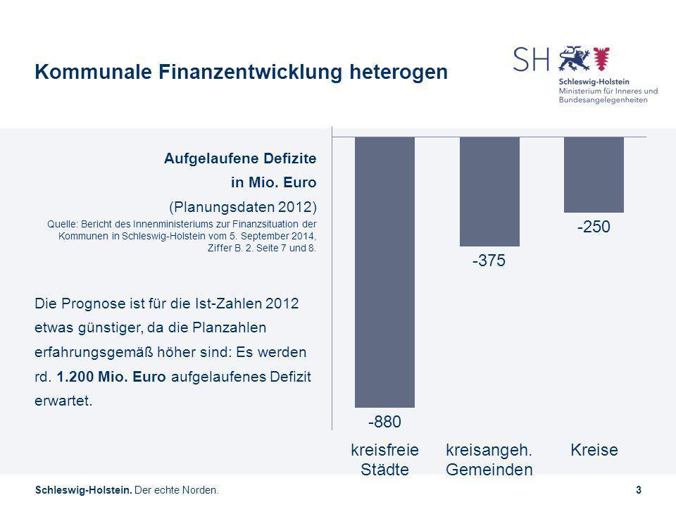Kommunale Finanzentwicklung heterogen