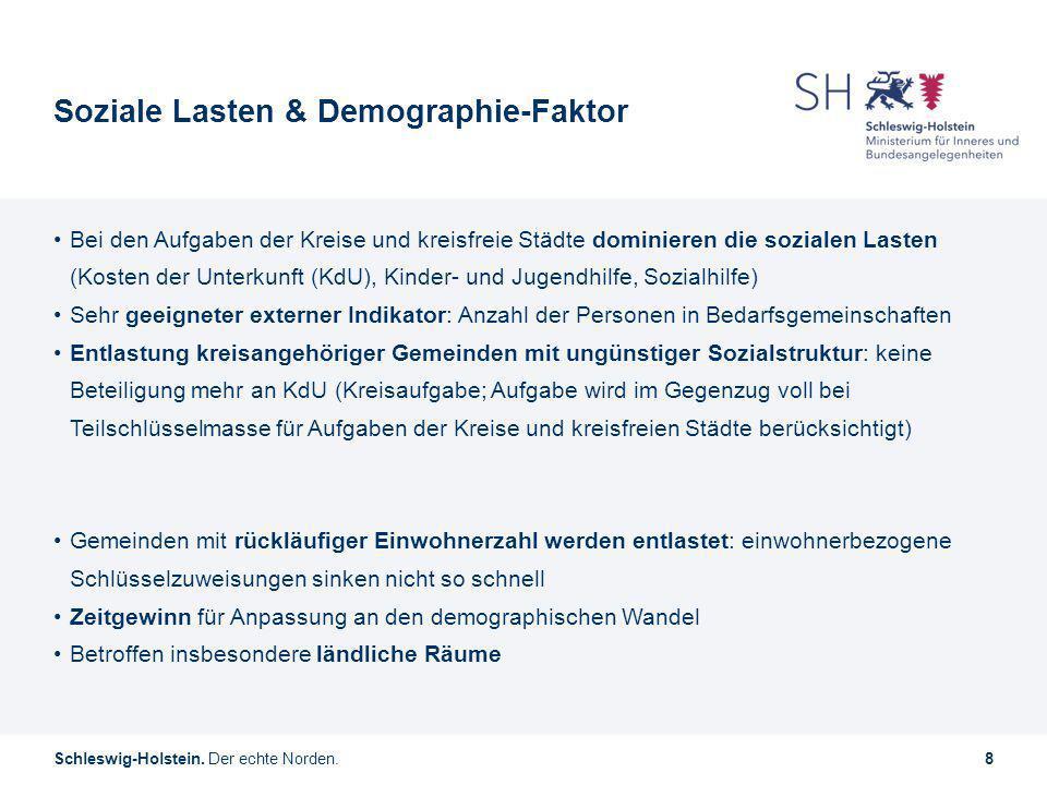Soziale Lasten & Demographie-Faktor