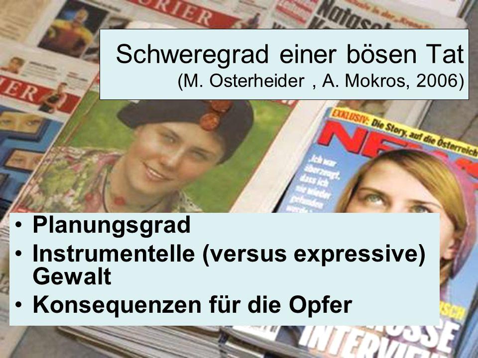 Schweregrad einer bösen Tat (M. Osterheider , A. Mokros, 2006)