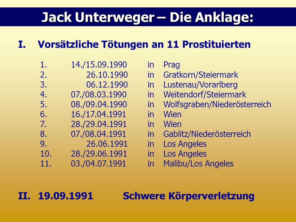 Jack Unterweger – Die Anklage:
