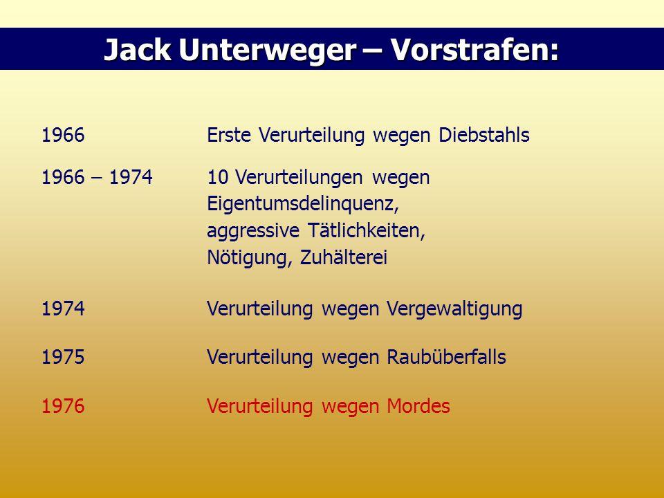 Jack Unterweger – Vorstrafen: