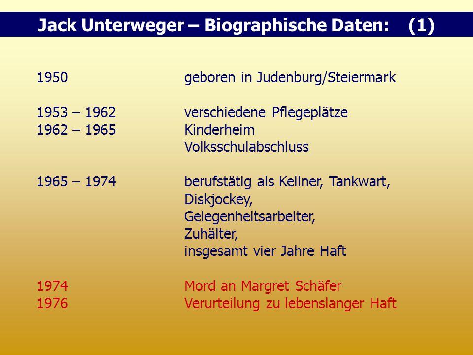 Jack Unterweger – Biographische Daten: (1)