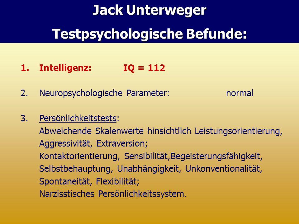 Testpsychologische Befunde: