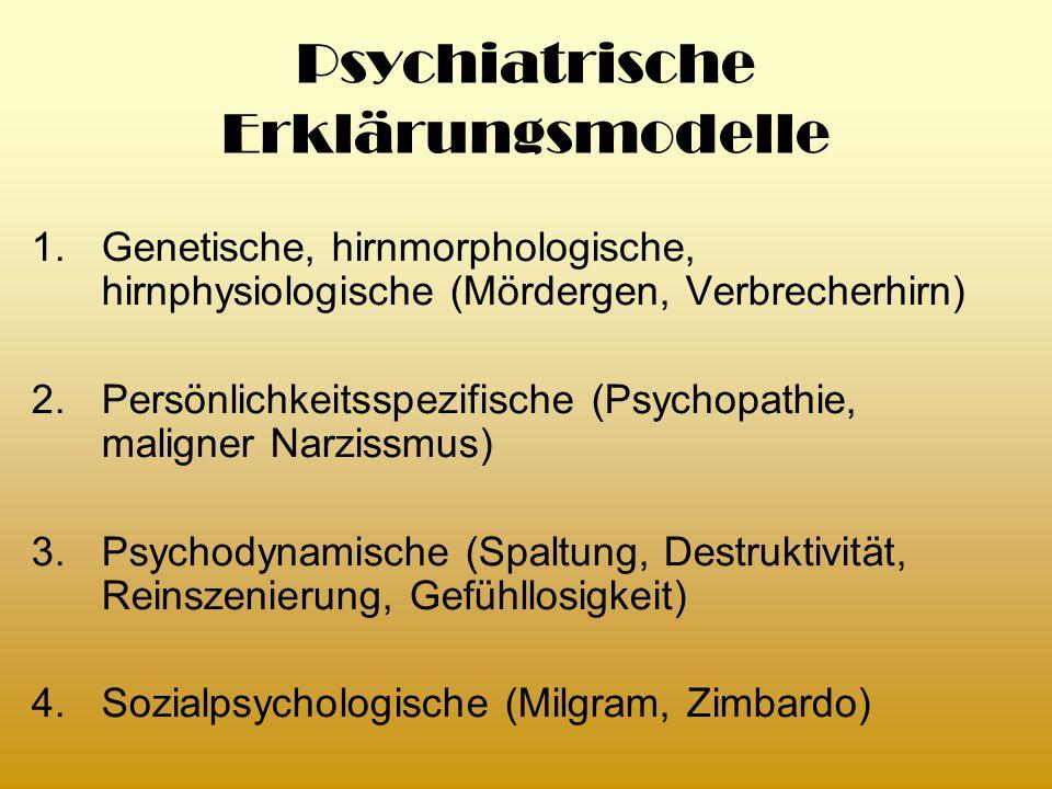 Psychiatrische Erklärungsmodelle