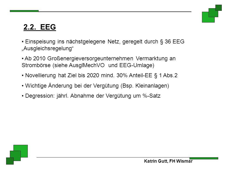 """2.2. EEG Einspeisung ins nächstgelegene Netz, geregelt durch § 36 EEG """"Ausgleichsregelung"""