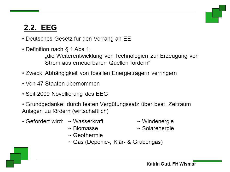 2.2. EEG Deutsches Gesetz für den Vorrang an EE