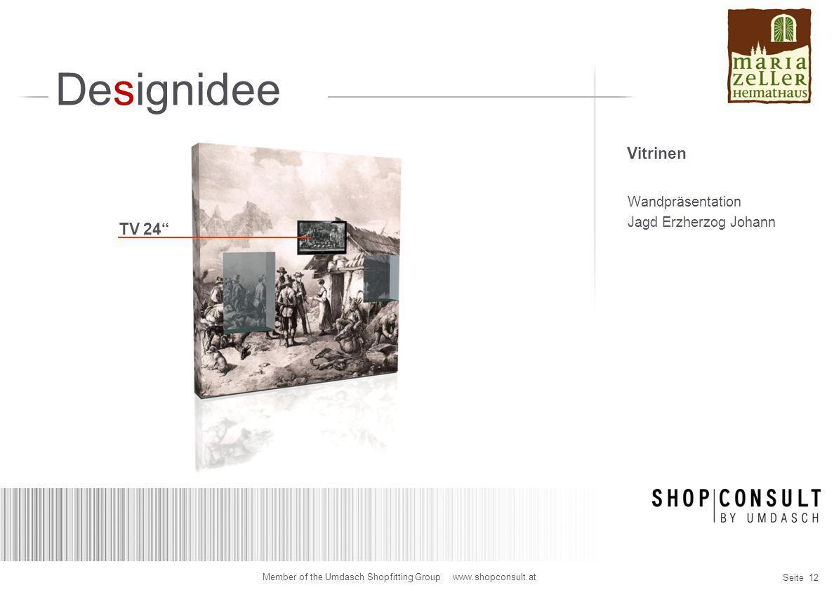 Designidee Vitrinen Wandpräsentation Jagd Erzherzog Johann TV 24
