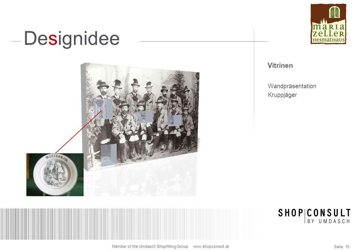 Designidee Vitrinen Wandpräsentation Kruppjäger