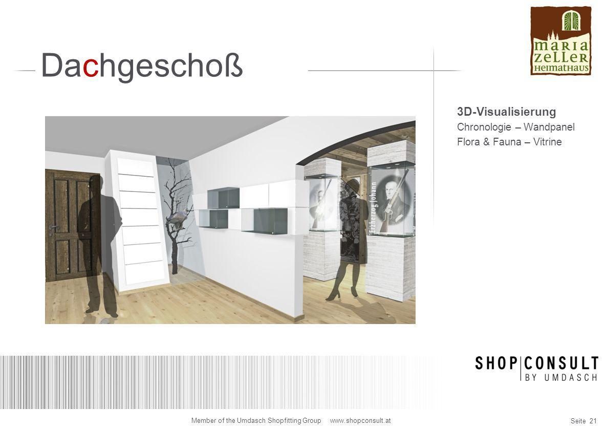 Dachgeschoß 3D-Visualisierung Chronologie – Wandpanel