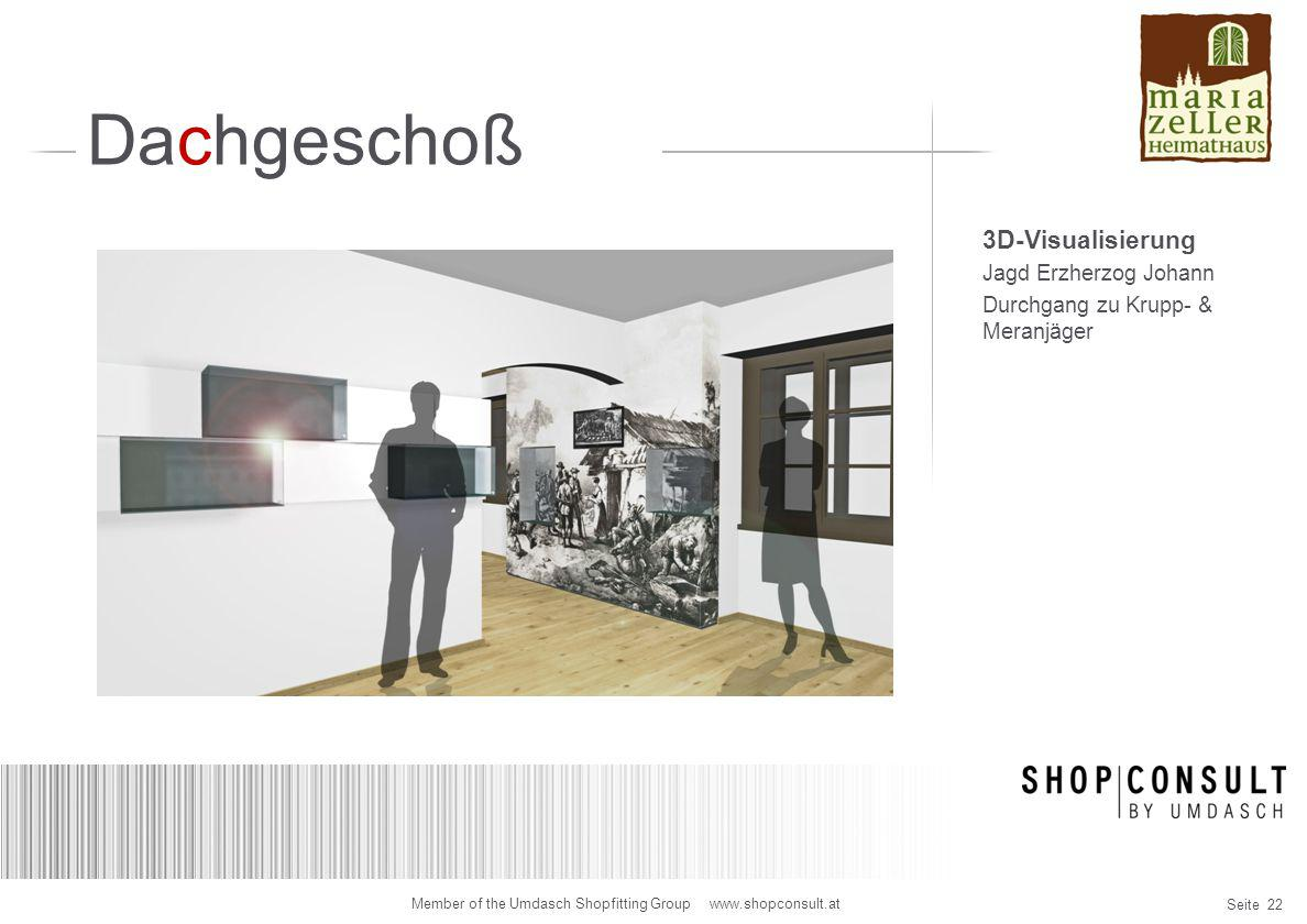 Dachgeschoß 3D-Visualisierung Jagd Erzherzog Johann