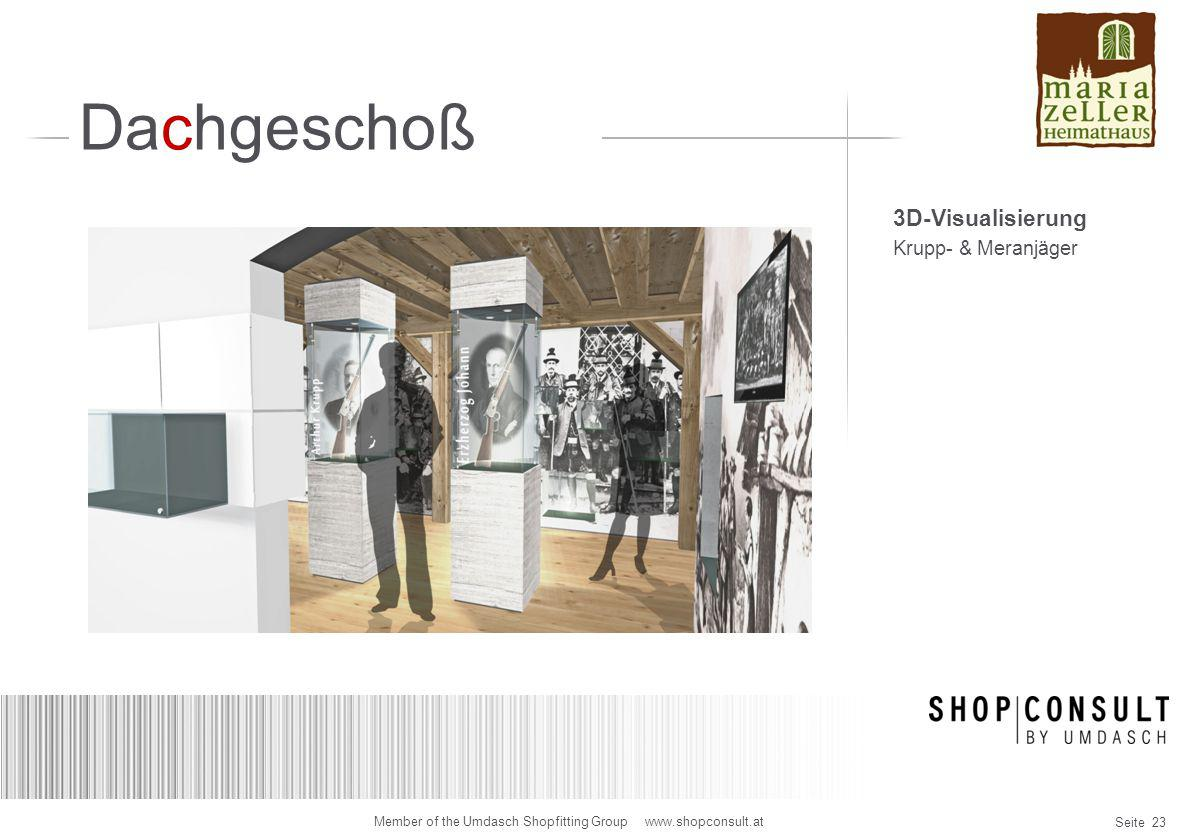 Dachgeschoß 3D-Visualisierung Krupp- & Meranjäger