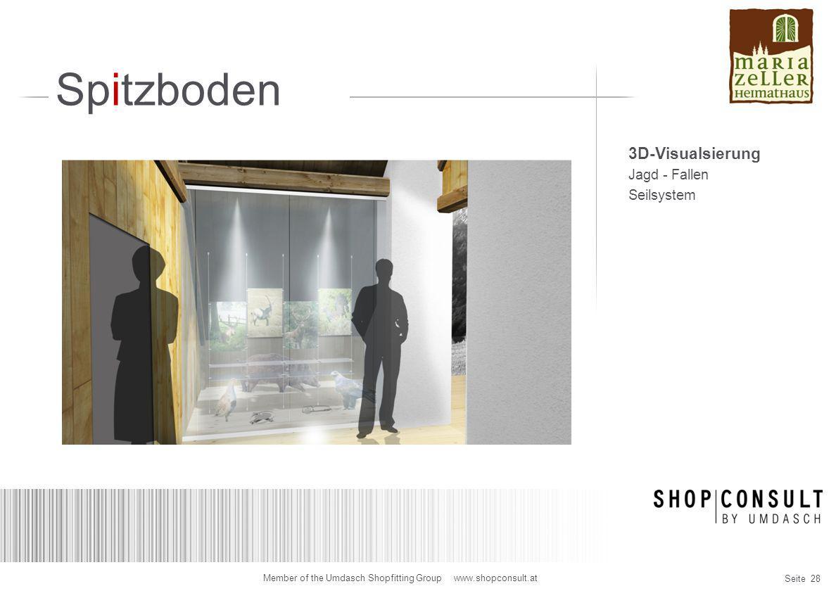 Spitzboden 3D-Visualsierung Jagd - Fallen Seilsystem