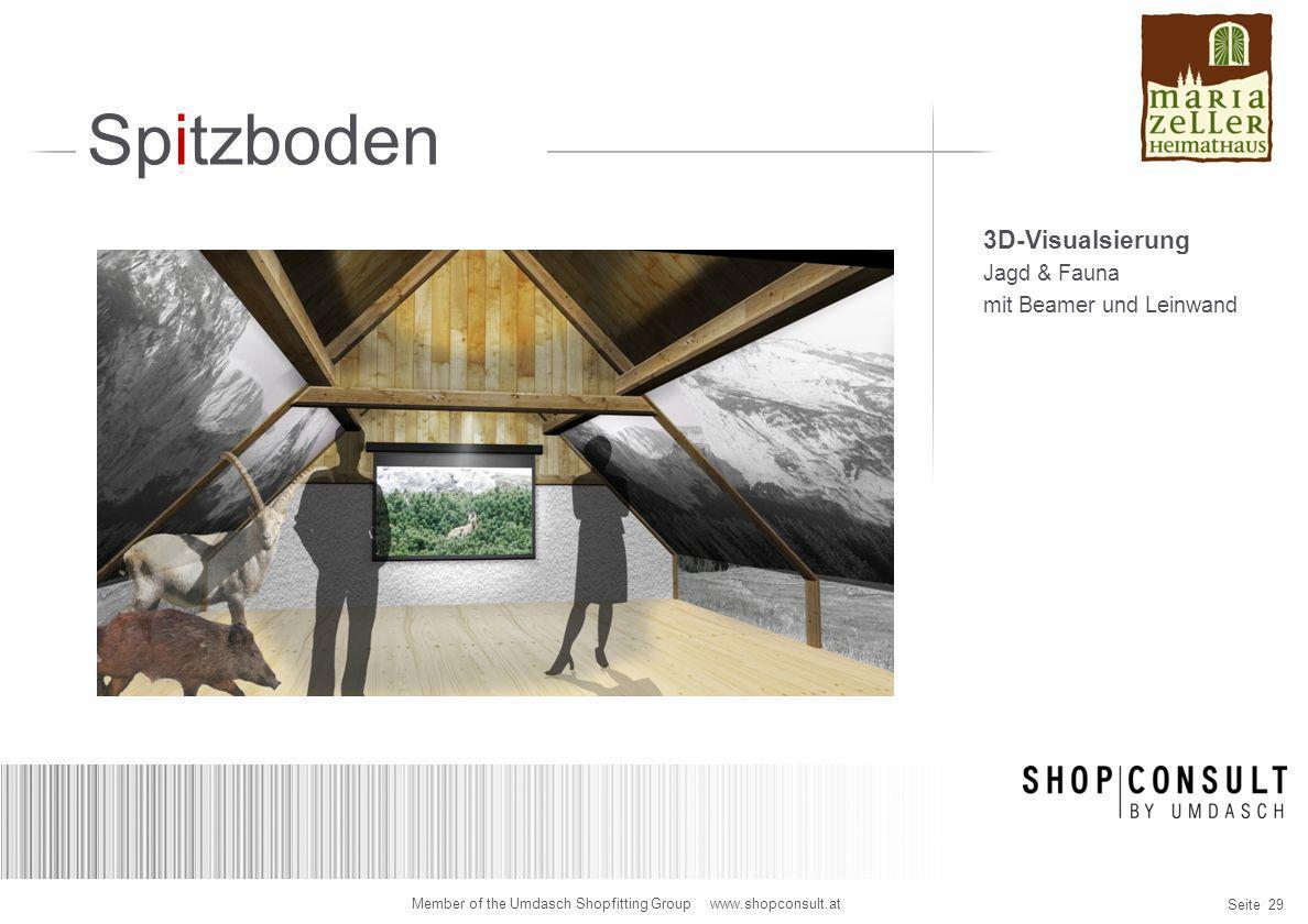Spitzboden 3D-Visualsierung Jagd & Fauna mit Beamer und Leinwand