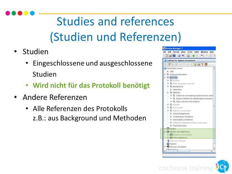 Studies and references (Studien und Referenzen)