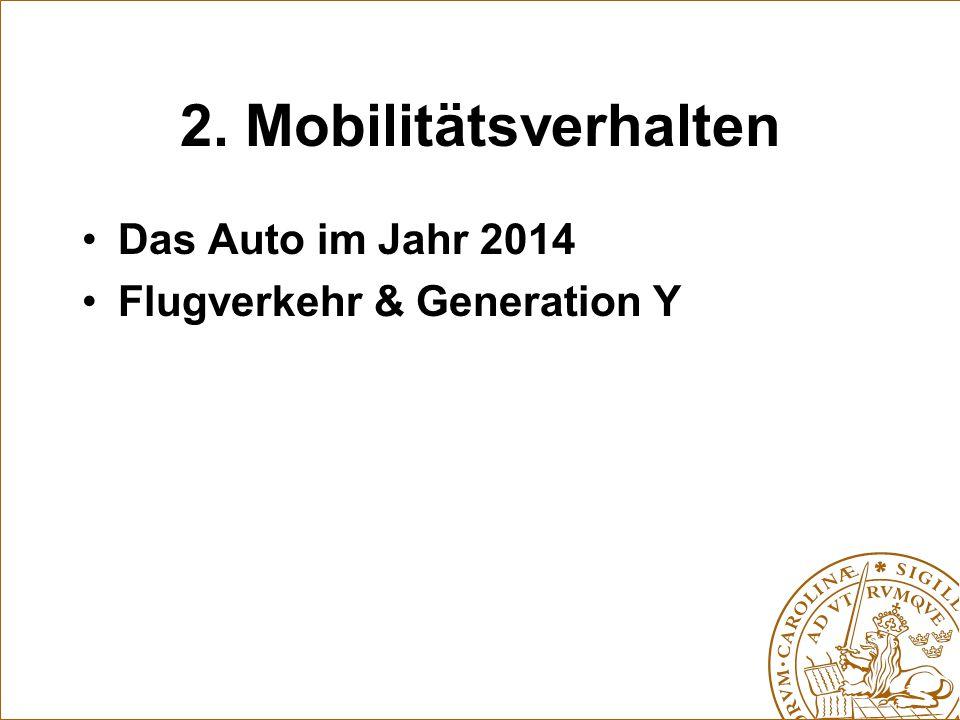 2. Mobilitätsverhalten Das Auto im Jahr 2014