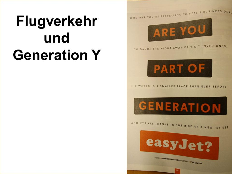 Flugverkehr und Generation Y