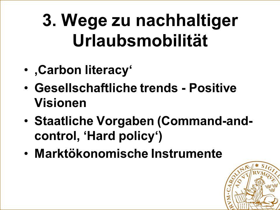 3. Wege zu nachhaltiger Urlaubsmobilität