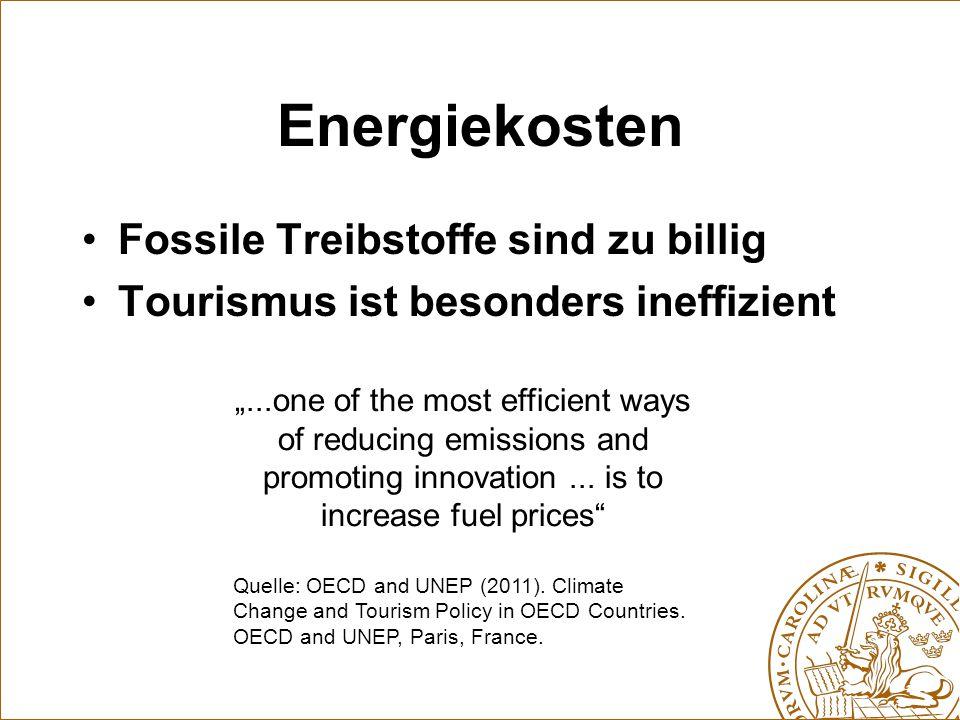 Energiekosten Fossile Treibstoffe sind zu billig