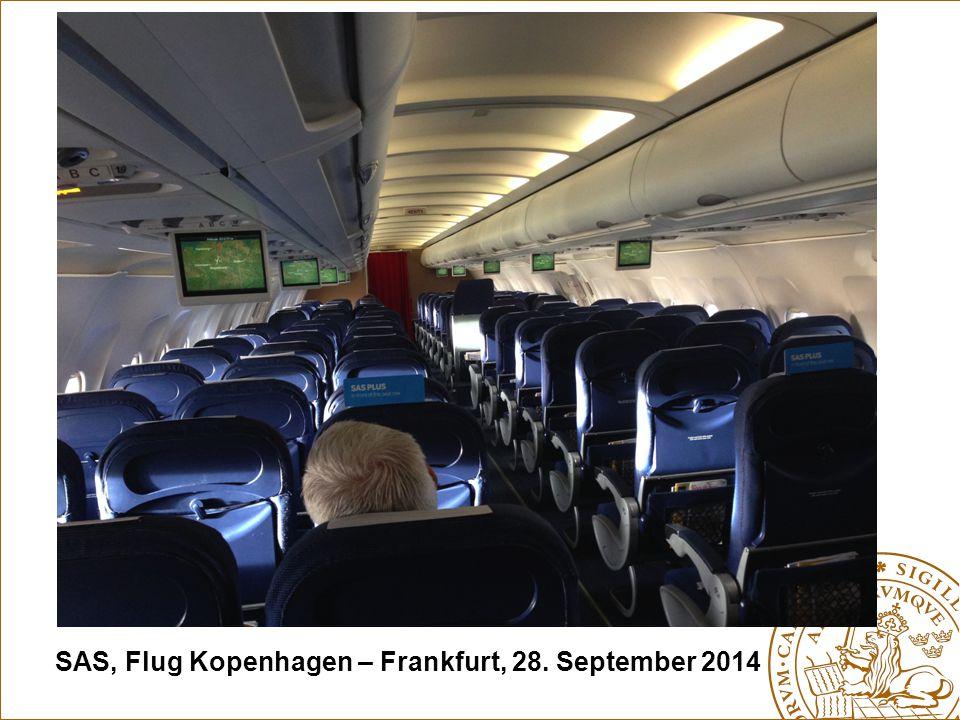 SAS, Flug Kopenhagen – Frankfurt, 28. September 2014