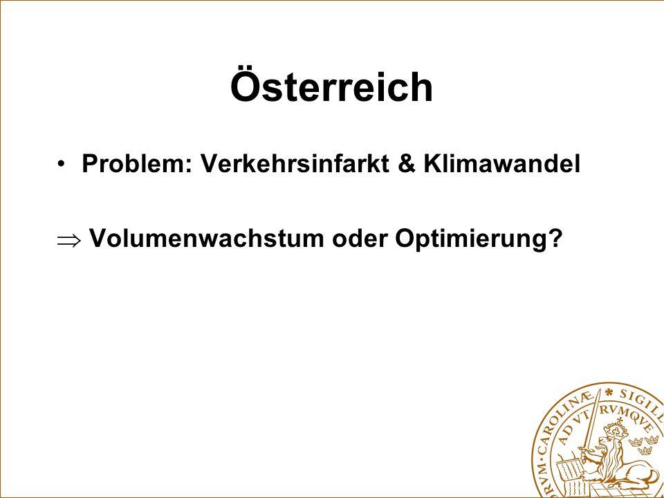 Österreich Problem: Verkehrsinfarkt & Klimawandel