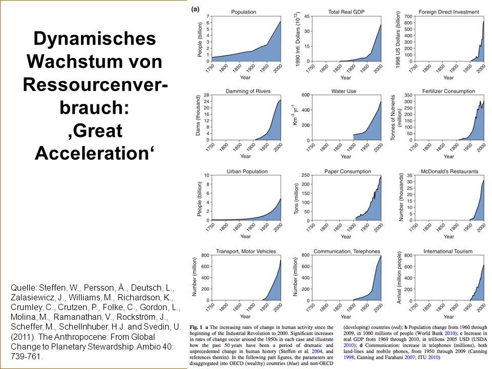 Dynamisches Wachstum von Ressourcenver-brauch: 'Great Acceleration'