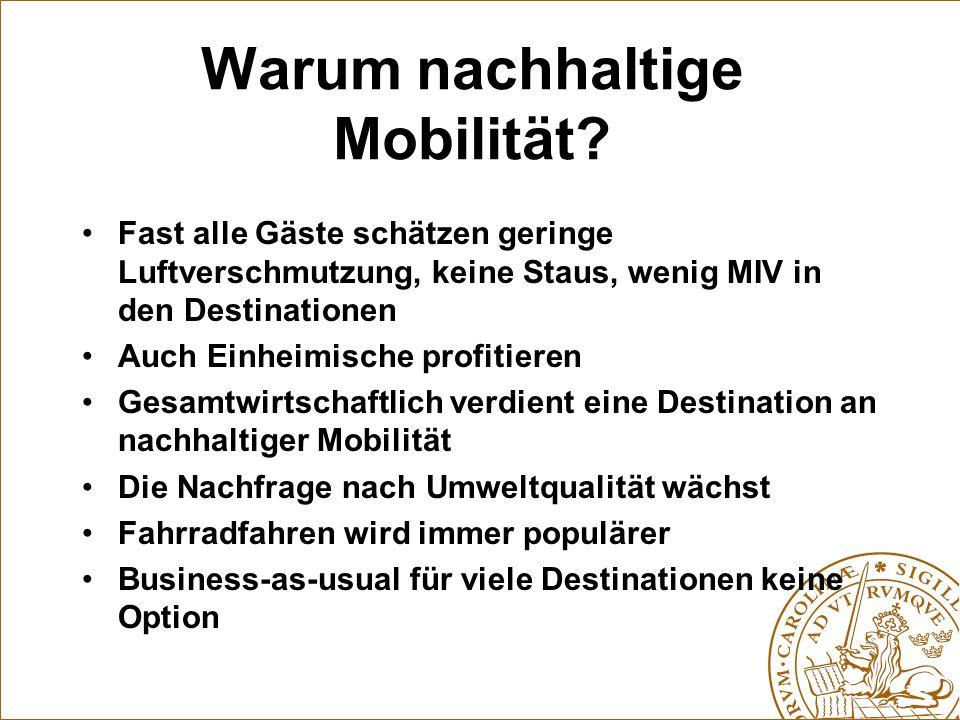 Warum nachhaltige Mobilität