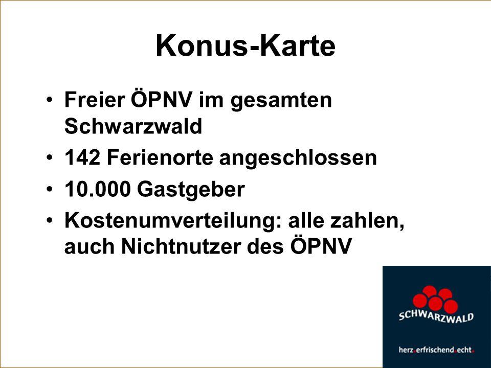 Konus-Karte Freier ÖPNV im gesamten Schwarzwald