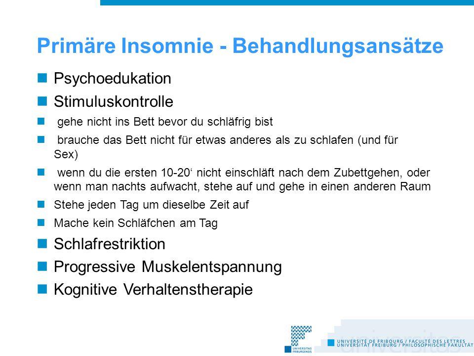 Primäre Insomnie - Behandlungsansätze