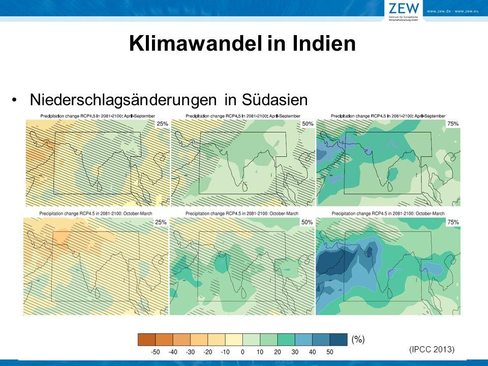 Klimawandel in Indien Niederschlagsänderungen in Südasien (IPCC 2013)