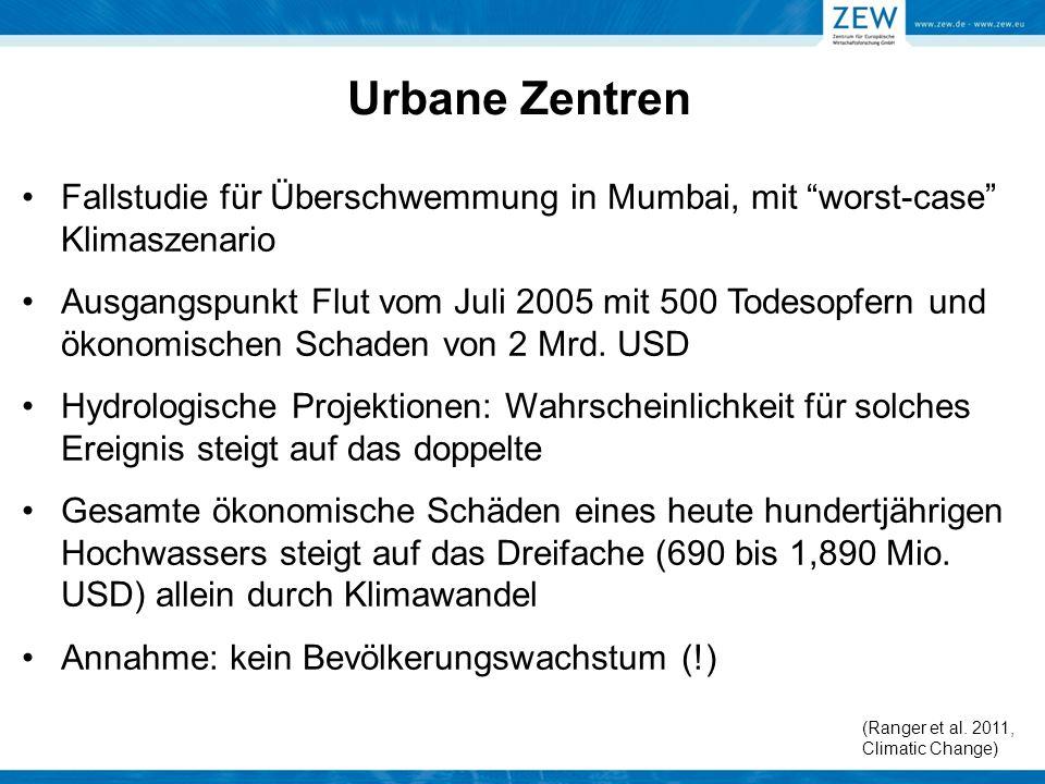 Urbane Zentren Fallstudie für Überschwemmung in Mumbai, mit worst-case Klimaszenario.