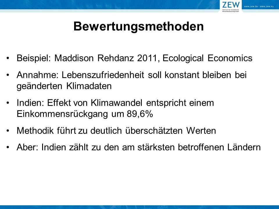 Bewertungsmethoden Beispiel: Maddison Rehdanz 2011, Ecological Economics.