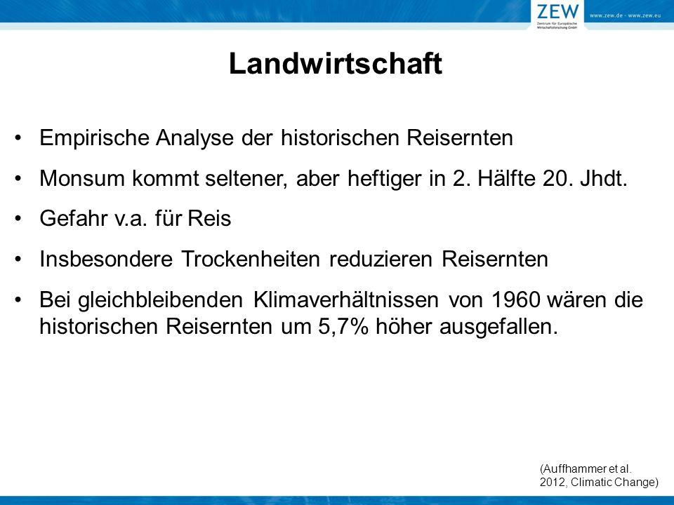 Landwirtschaft Empirische Analyse der historischen Reisernten
