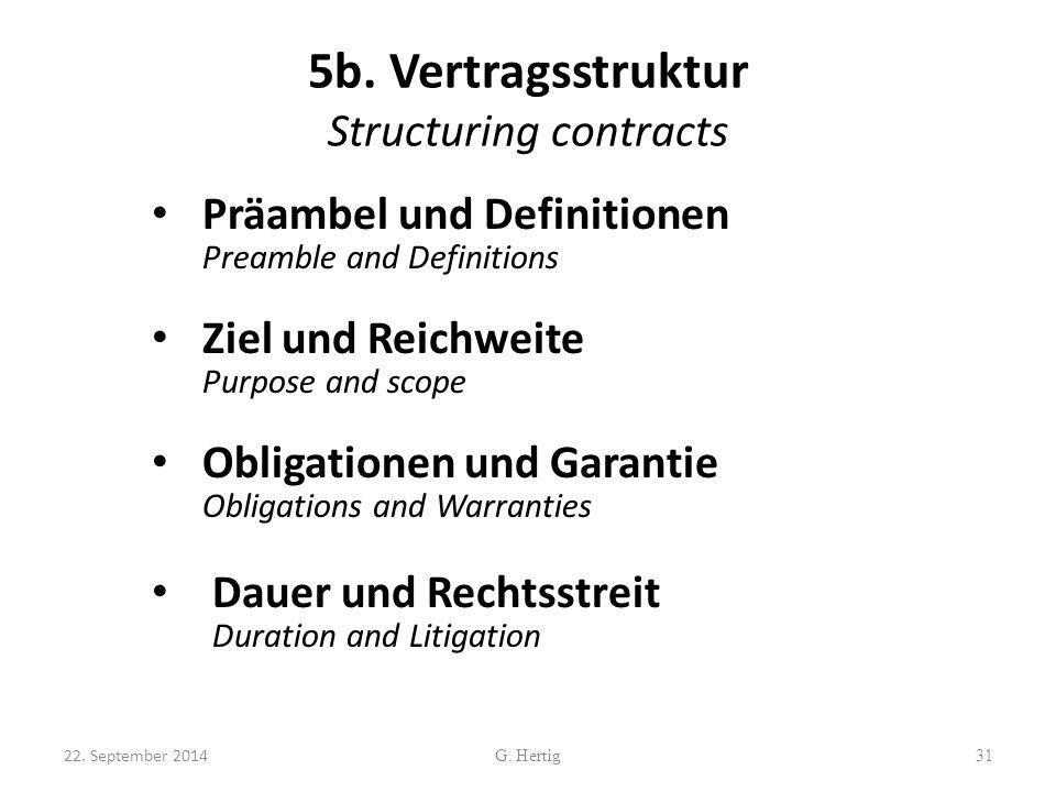 5b. Vertragsstruktur Structuring contracts