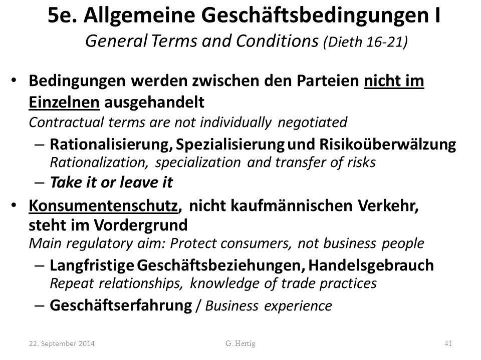 5e. Allgemeine Geschäftsbedingungen I General Terms and Conditions (Dieth 16-21)
