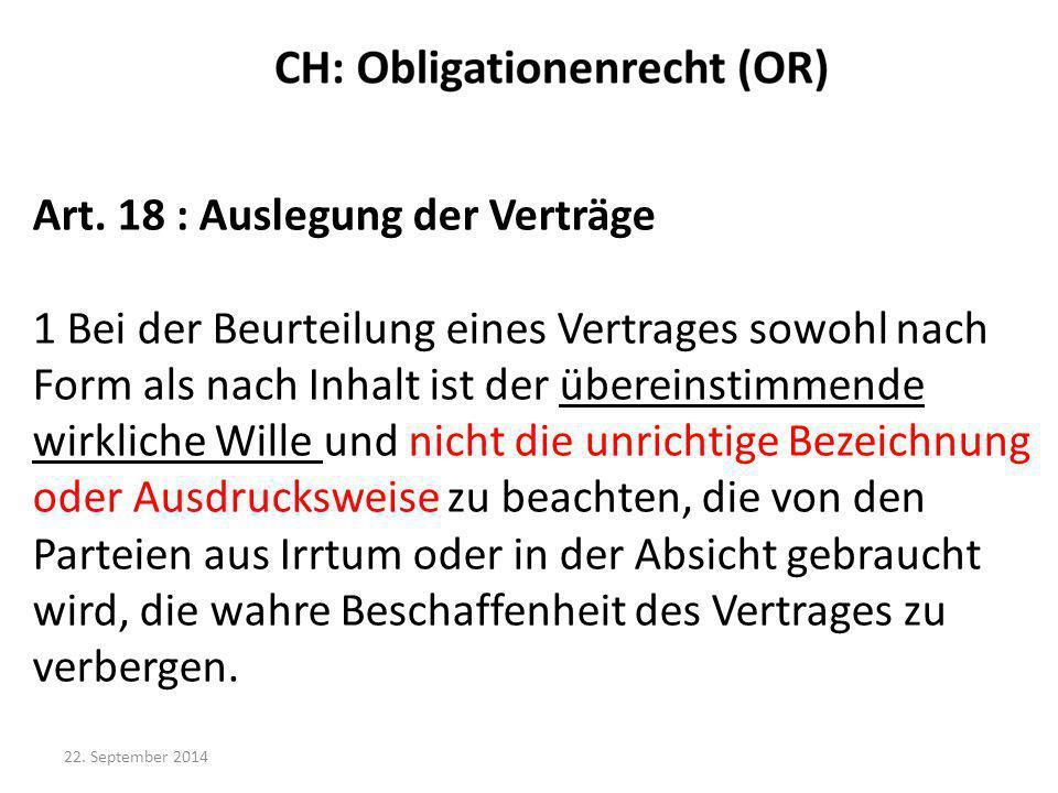 Art. 18 : Auslegung der Verträge
