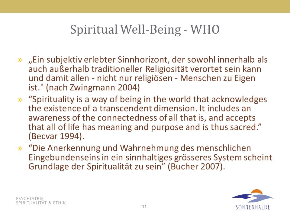 Spiritual Well-Being - WHO