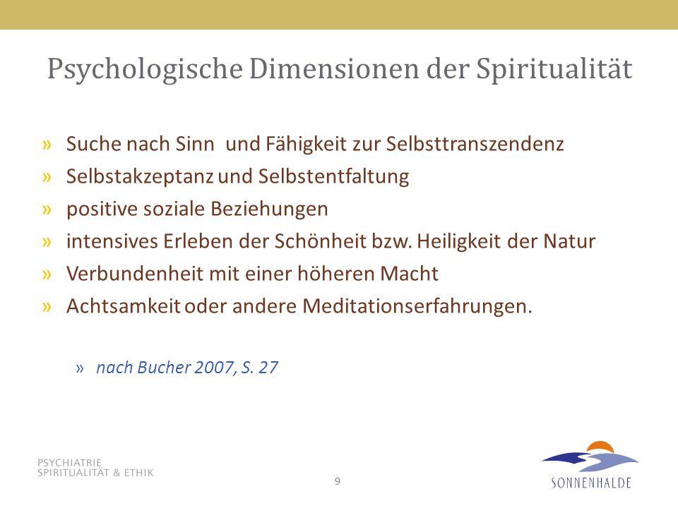 Psychologische Dimensionen der Spiritualität