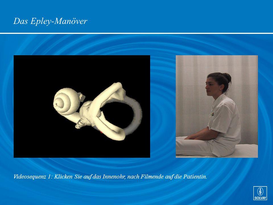 Das Epley-Manöver Videosequenz 1: Klicken Sie auf das Innenohr, nach Filmende auf die Patientin.