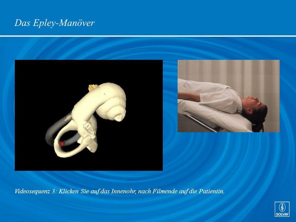 Das Epley-Manöver Videosequenz 3: Klicken Sie auf das Innenohr, nach Filmende auf die Patientin.