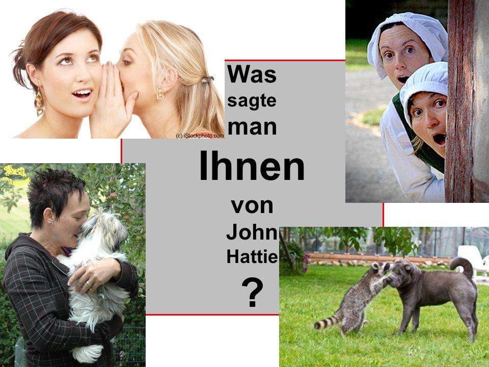 Was sagte man Ihnen von John Hattie